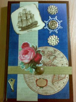 Блокнот в стиле морских путешествий