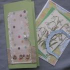 Две зеленые открытки