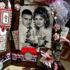 Свадебная фоторамка из книги