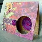 Открытка с шифоновым цветком