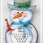 Новогодняя открытка-календарь на январь 2011 года.