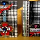 Обложки на паспорт в клетку