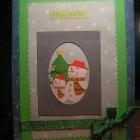 моя первая открытка (новогодняя)