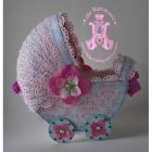 Поздравительная колясочка для новорожденного.