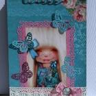 Блокнот голубой с бабочками