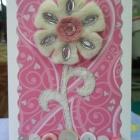 открытка с войлоком