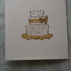 Свадебная открытка ( вид с обратной стороны)