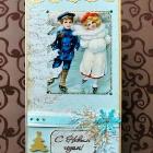 Бирюзово-золотая Новогодне-Рождественская
