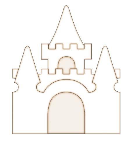 Шаблон замка для Скрапбукинга